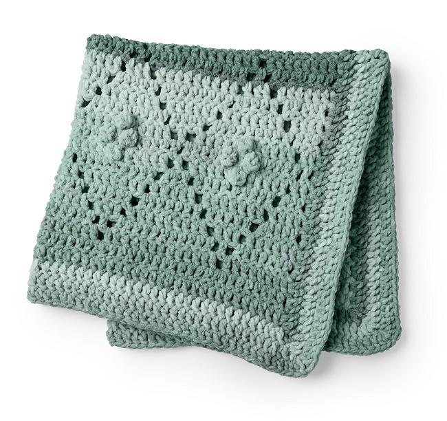 Baby Dimond Filet Crochet Blanket