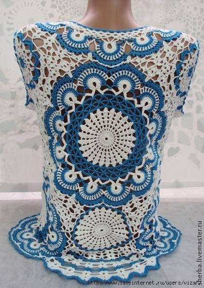 Beautiful Crochet Blouse With Graphic 2020 1