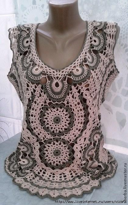 Beautiful Crochet Blouse With Graphic 2020 2