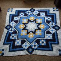 Blue Star Afghan Free Pattern - Beautiful for 2020