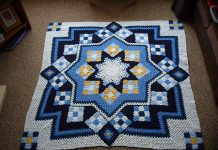 Blue Star Afghan Free Pattern