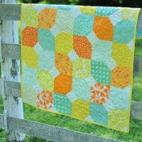 Citrus Mint Baby Quilt - 1 Beautiful Free Tutorial in PDF