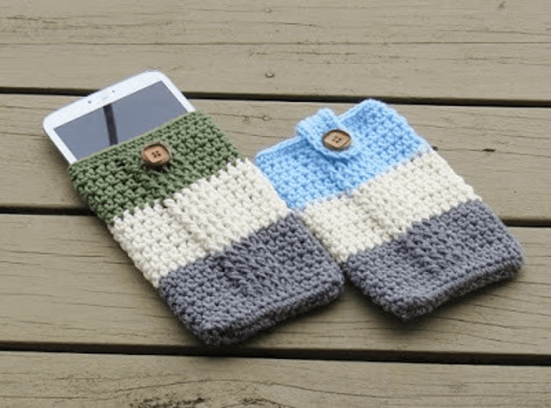 Crochet free pattern mobile phone protection pretty 2020 1
