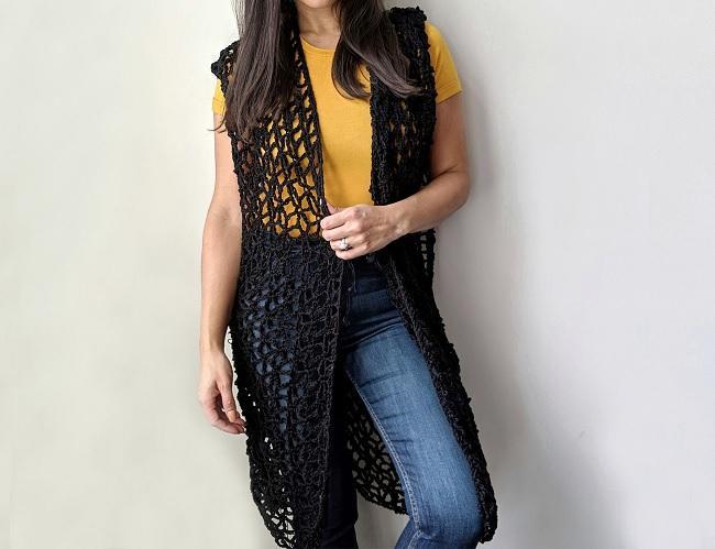 Patons Wildflower Crochet Vest wonderful model 2020