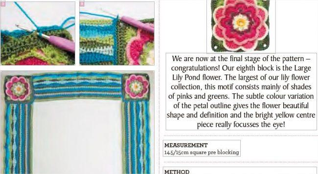 Pretty Lily Pond Blanket Crochet Along 2020