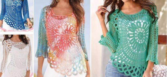 Beautiful Crochet Blouse With Graphic 2020