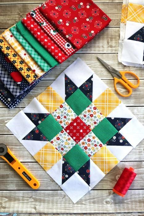 Meet the Makers Quilt Along block 01 with  Riley Blake Designs 8