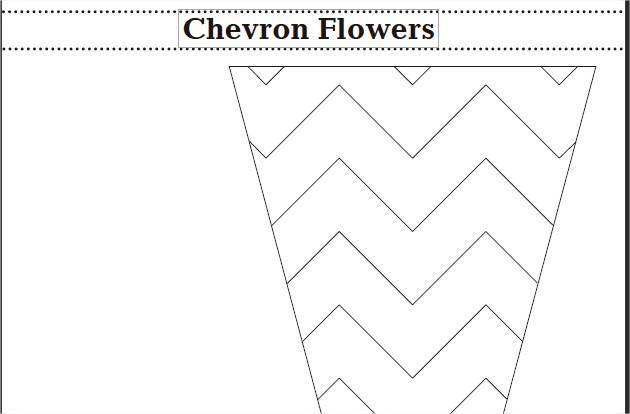 Chevron Flowers Free Pattern