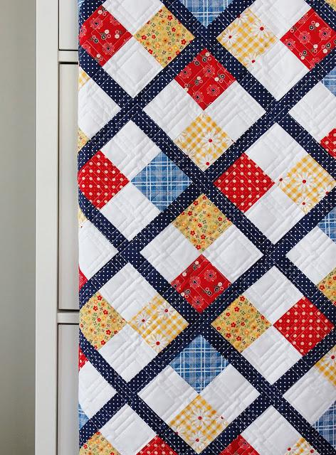 Five Fat Quarter Fun - Preppy Quilt Pattern