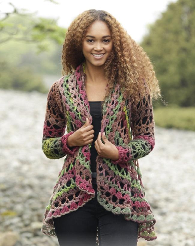 Circle Worked Crochet Jacket Free Pattern
