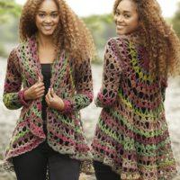 Circle Worked Crochet Jacket Free Pattern - 04 image's
