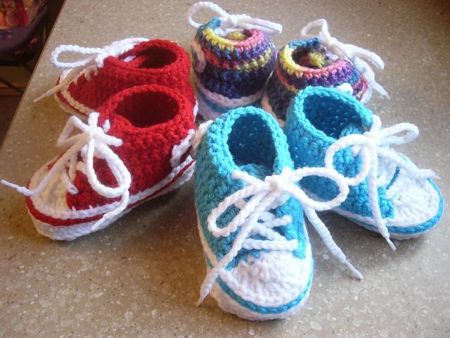 NewBorn Baby Converse - 2 times beautiful!