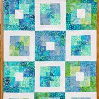 Square in square quilt block tutorial Free Pattern 12 step