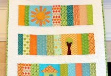 Sunshine Slice of Life Baby Quilt