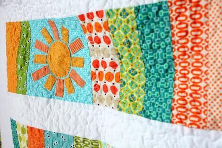 Sunshine Slice of Life Baby Quilt