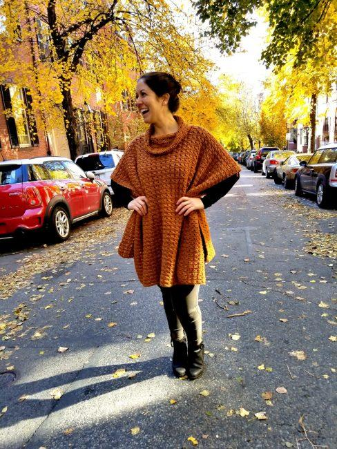 Beacon Street Poncho Crochet Pattern
