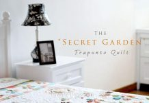 Secret Garden Trapunto Quilt Free Pattern by Joanne