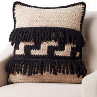 Bernat Graphic Step Crochet Pillow Free Patterns 2020