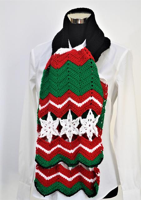 Christmas Scarf free pattern