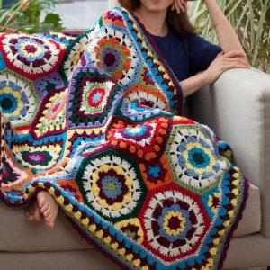 Crochet Red Heart Love blanket free pattern
