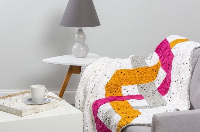 Crochet Woven Throw free pattern