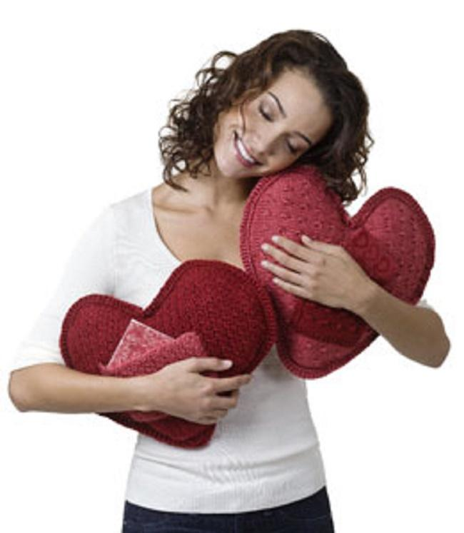 Crochet or knitting pillow I love you Free pattern