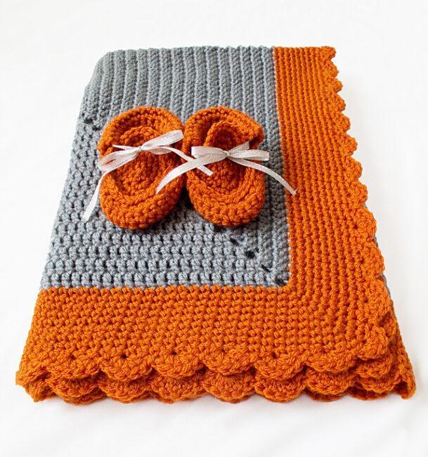 Crocheted Starburst Baby Blanket