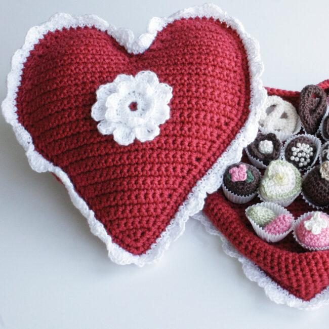 Red Heart Crochet Box of Chocolates Patterns - Valentine's day 2020