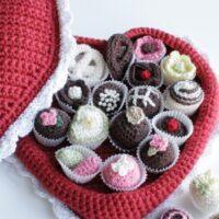 Wonderful Red Heart Crochet Box of Chocolates Patterns - Valentine's day 2020