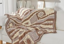 Crochet Afghan blanket brown tones Free Patterns