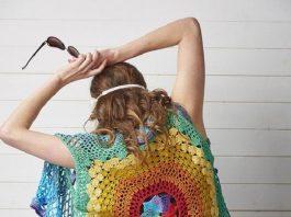 Crochet Rainbow Mandala Waistcoat