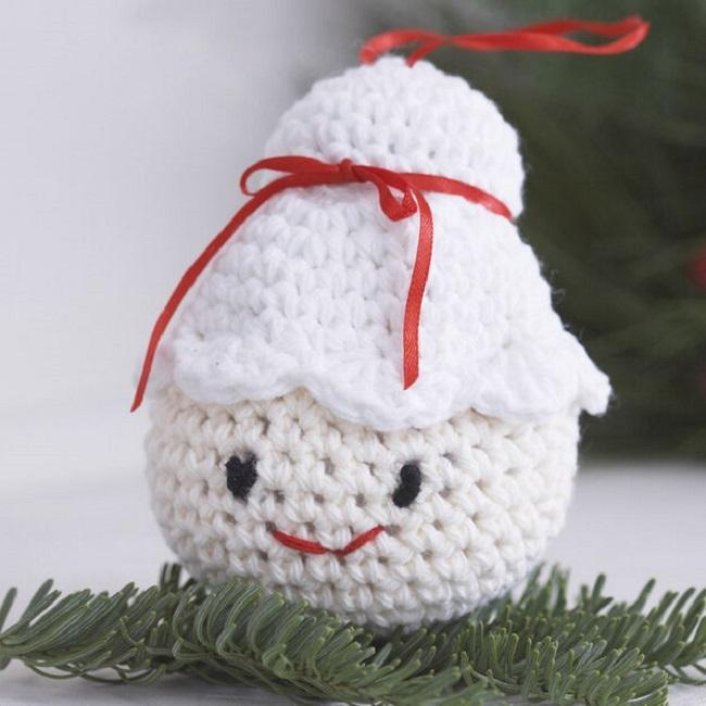 Amigurumi Ornaments Free Patterns all crocheted in Lily Sugar'n Cream.
