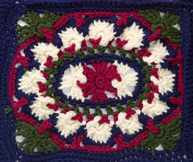 Brocade Throw Crochet Pattern