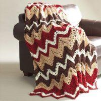 Crochet Cabin in the Woods Vintage Afghan Free Pattern 2020