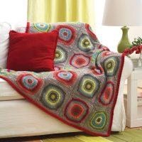 Crochet Circle in Squares Afghan Pattern Free 2020