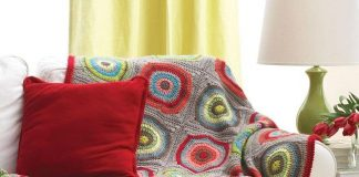 Crochet Circle in Squares Afghan Pattern