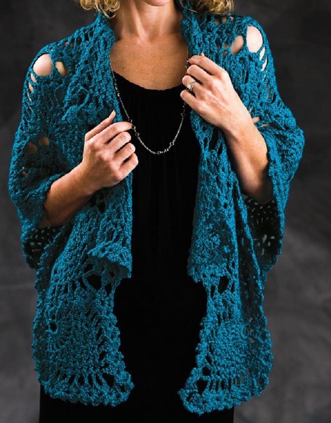 Crochet Peacock Shawl Pattern