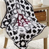 Crochet Graphic Motif Throw Pattern free