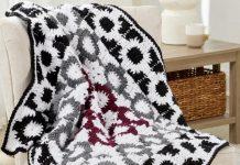 Crochet Graphic Motif Throw Pattern