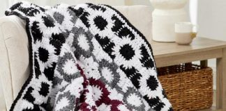 Crochet Graphic Motif Throw Pattern