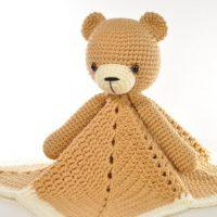 Crochet Lovey Blanket Bear Security Blanket Teddy Free Pattern 2020