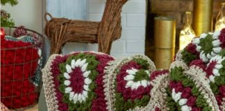 Crochet Yuletide Motif Throw Free Pattern