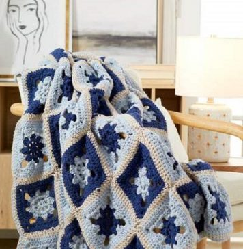 Crochet Circle in Square Throw Pattern