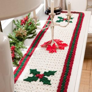 Crochet Pattern Holly Table Runner Free for 2020