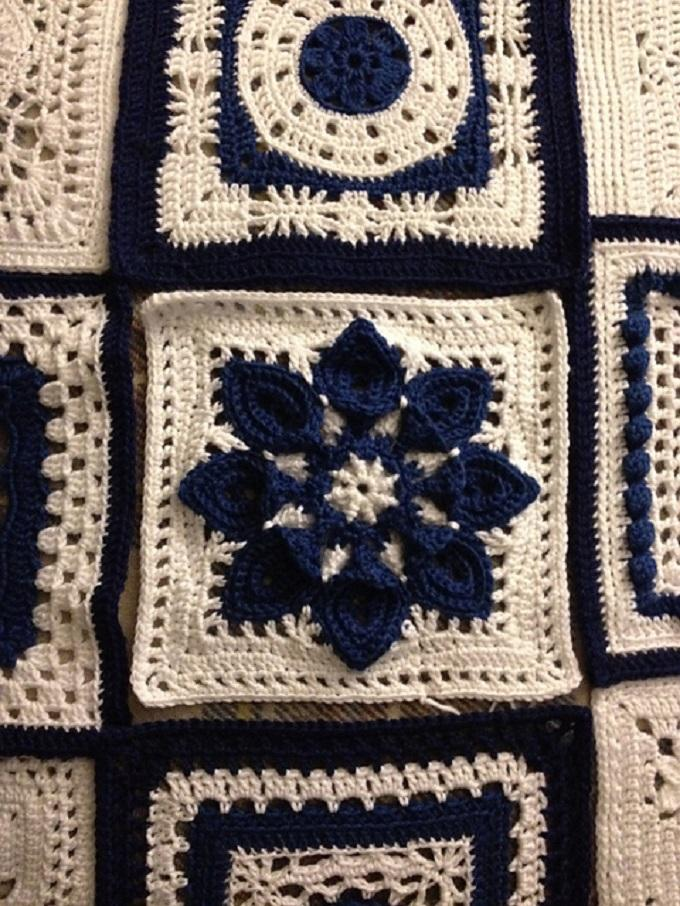 Crochet Purifying Afghan Block