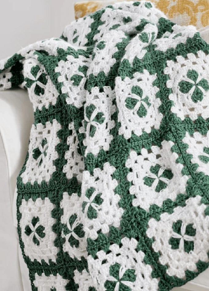 Crochet Circle in Square Throw Pattern by PRIMIER