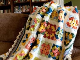 Weekend in Stockholm Throw Free Crochet Pattern