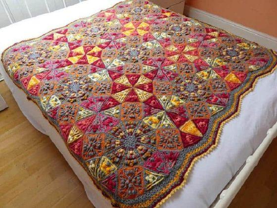 Color Kaleidoscope Blanket Crochet Patterns
