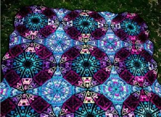 Color Kaleidoscope Blanket Crochet Patterns