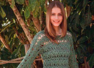 Lace tunic crochet free pattern